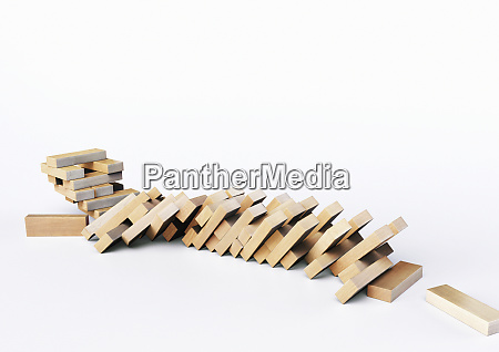 toppled tower of blocks