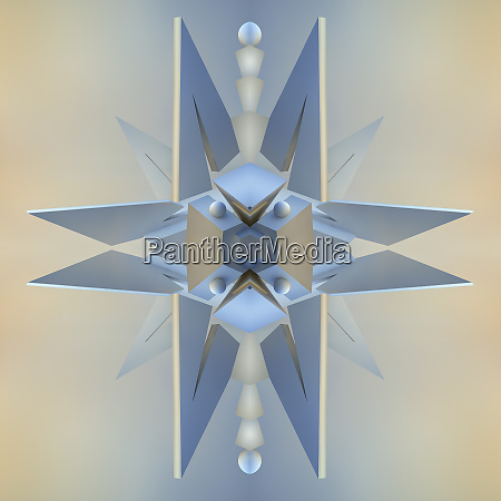 abstract three dimensional symmetrical spike pattern