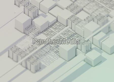 blocks of white binary code data