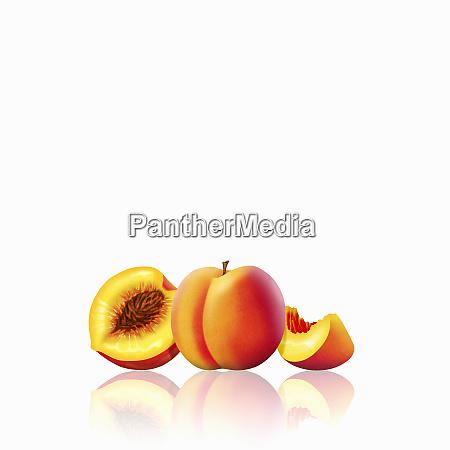 fresh peaches whole half and slice