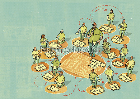 outsourcing of jigsaw pieces