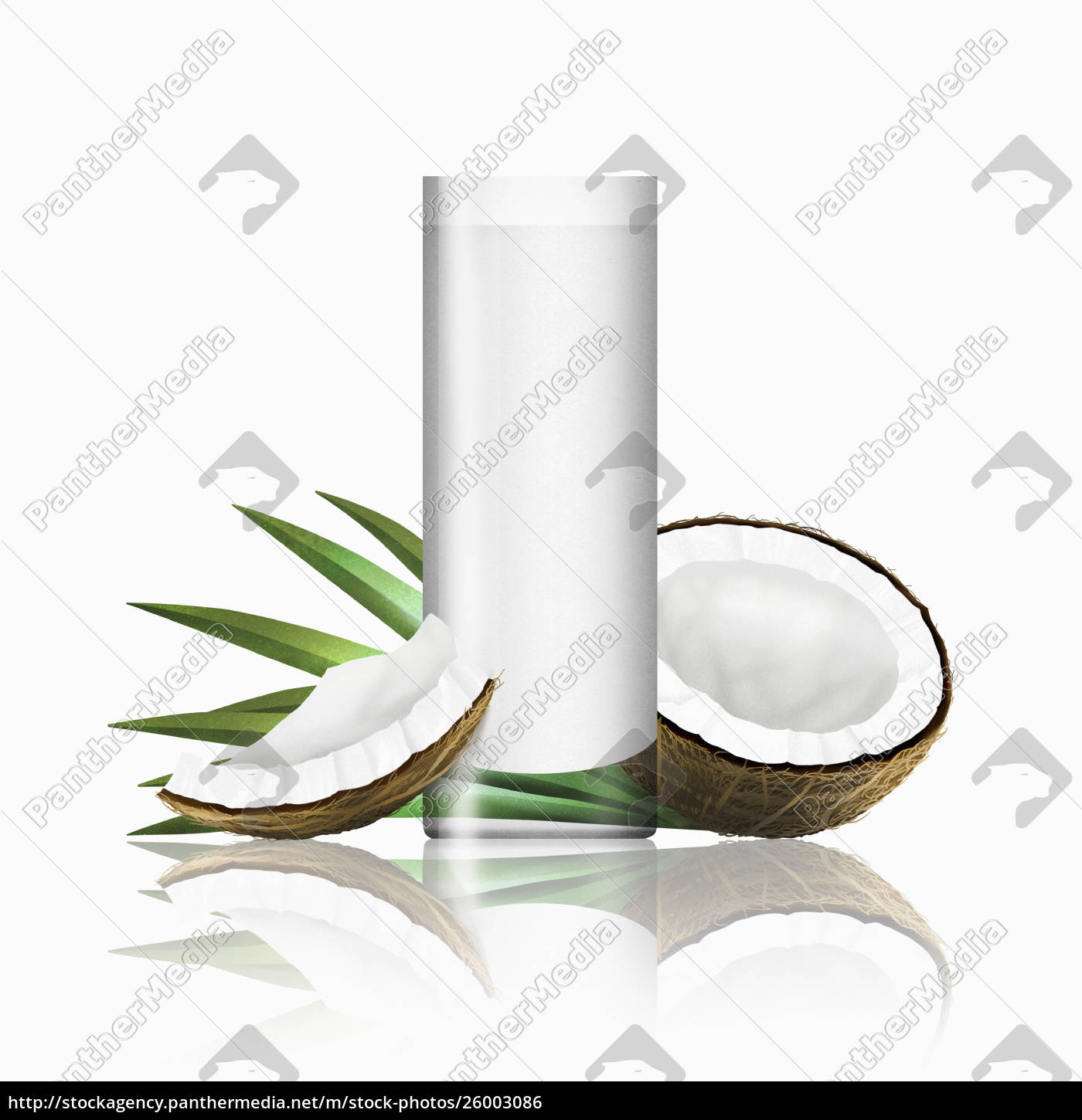 glass, of, coconut, milk, with, pieces - 26003086