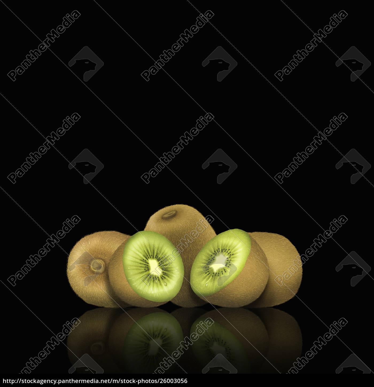 whole, and, cut, kiwi, fruit - 26003056