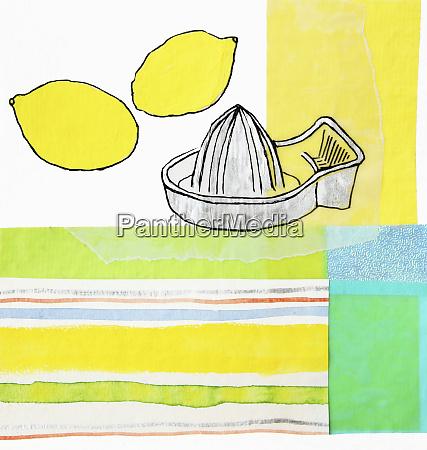 lemons and juicer