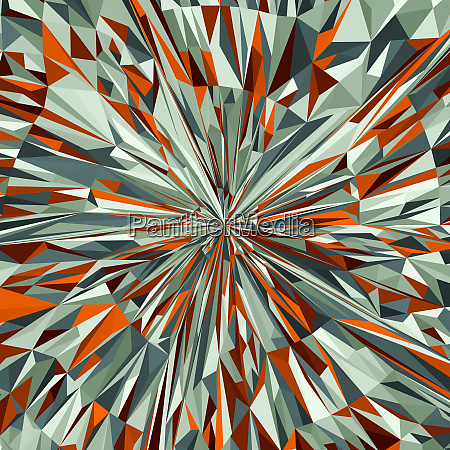 vibrant angular red and green abstract