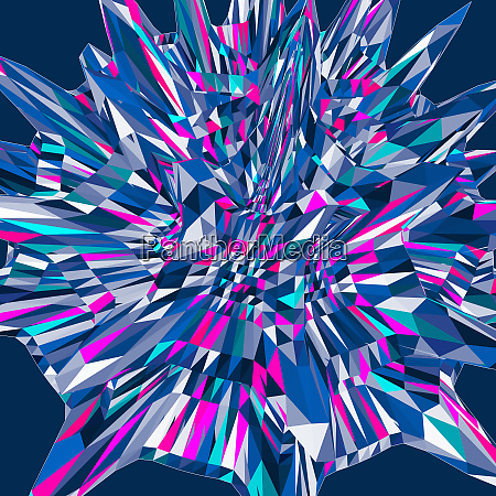 abstract 3d splash pattern