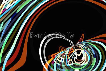 bright color abstract curved line pattern