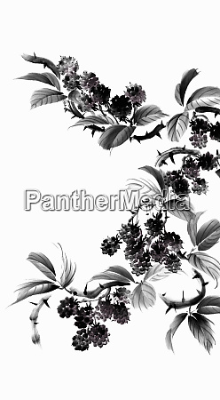 blackberry bush with leaves and thorns