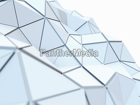 curving, textured, low, poly, surface, of - 26006264