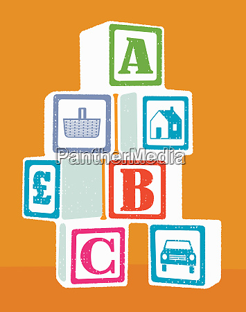 abc and household expenses building blocks