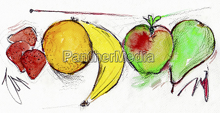 five portions of fruit in a
