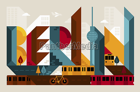 city architecture forming the word berlin