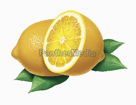 close up of fresh lemons