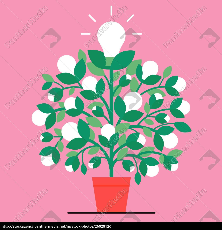 light, bulb, plant - 26028120