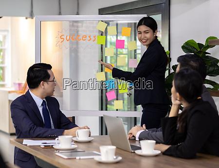 business team har et mode i