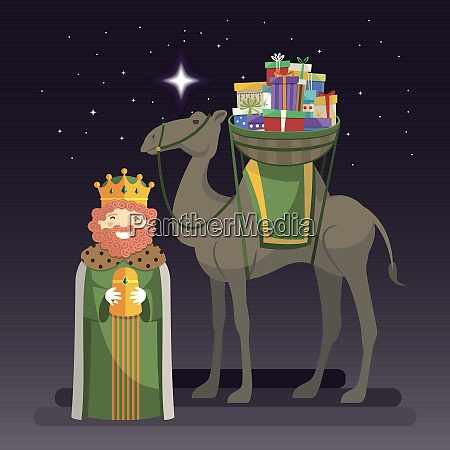 three kings day with king caspar
