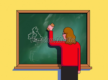 teacher erasing european union and leaving