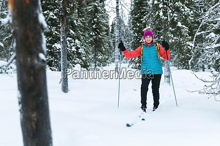 ski touring in the deep fresh